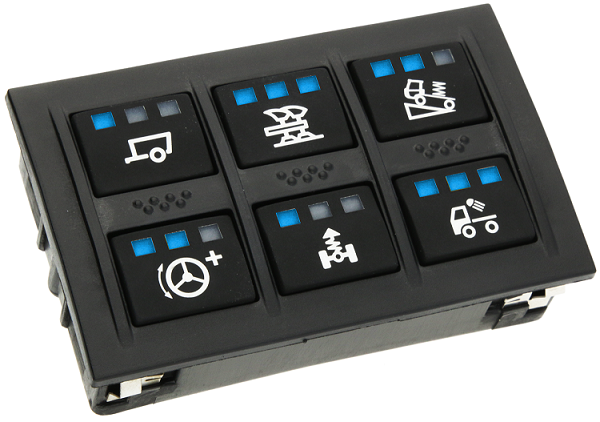 APEM Programmable CAN bus keypad - KP6 series